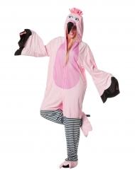 Flamingo Kostüm für Erwachsene Overall