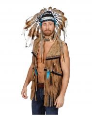 Indianer-Weste mit Fransen für Herren