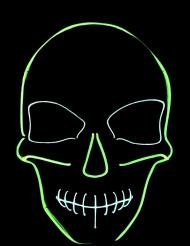 LED-Maske Skelett für Erwachsene schwarz