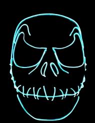 Maske Skelett genähter Mund nachtleuchtend