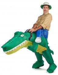 Aufblasbares Krokodil-Kostüm für Erwachsene