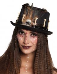 Steampunk-Hut für Damen schwarz-braun
