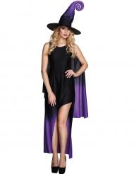 Schwarzes asymmetrisches Halloween Hexen Kostüm für Damen