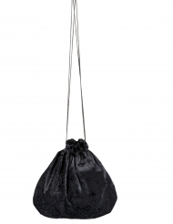 Velours-Samtbeutel Kostüm-Accessoire schwarz 27 cm