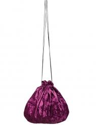 Samtbeutel violett 27 cm