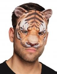 Tiermaske Tiger für Erwachsene braun