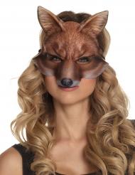 Fuchs-Tiermaske für Erwachsene Kostümzubehör braun
