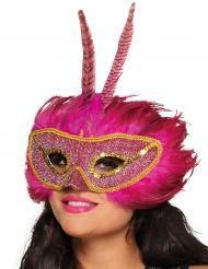 Maske Phoenix für Erwachsene rosa