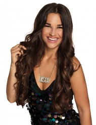Disco-Halskette für Erwachsene silber