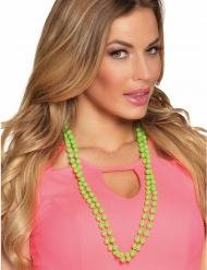 80er Jahre Perlenkette Kostümzubehör für Damen grün