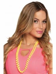 2 Perlen-Ketten für Erwachsene gelb