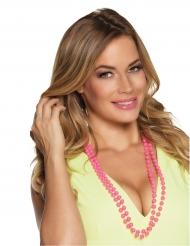 2 Perlen-Ketten für Erwachsene rosa