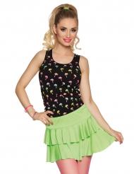Mini-Rock für Damen Kostümzubehör 80er neonfarben grün