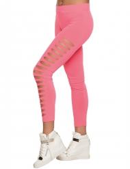 Rosa Legging mit Löchern für Erwachsene