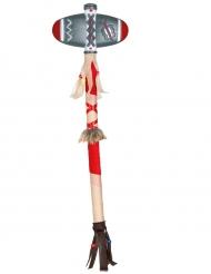 Indianer Axt-Waffe Kostümzubehör bunt 45cm