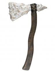 Steinaxt-Waffe Kostümzubehör braun-grau 45cm