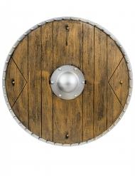 Mittelalterliches Krieger-Schild Kostümzubehör Mittelalter braun 40cm