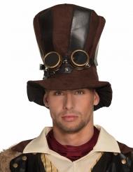 Gestreifter Steampunk-Hut für Erwachsene