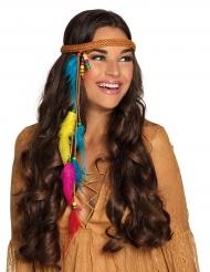 Indianer-Stirnband Kostümaccessoire für Damen bunt