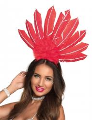 Brasilianischer-Kopfschmuck für Damen rot