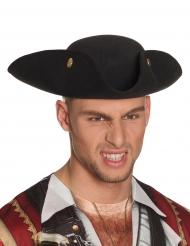 Dreispitz-Piratenhut für Herren schwarz