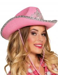 Cowgirl Hut Prinzessin für Damen rosa