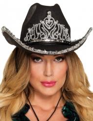 Hut Cowboy - Prinzessin schwarz für Damen