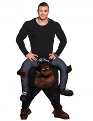 Lustiges Carry-Me Kostüm Gorilla schwarz-grau