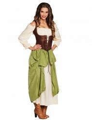 Mittelalterliche Tavernen Magd Kostüm für Damen