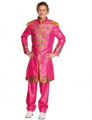 Pop-Sänger 80er-Jahre Kostüm für Herren pink-gold