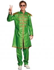 Pop-Sänger 80er-Jahre Kostüm für Herren grün-gold