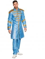Popstar Kostüm blau für Erwachsene