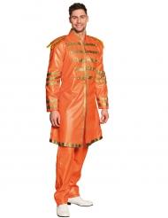 Pop-Sänger 80er-Jahre Kostüm für Herren orange-gold