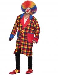 Karrierte Clownsjacke für Erwachsene