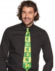 Krawatte Kleeblätter für Erwachsene St. Patrick