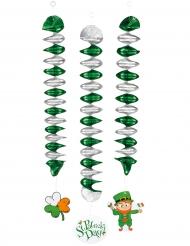 3 Deko-Spiralen St. Patrick