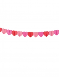 Herz Girlande aus Papier 4 Meter