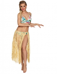 Langer Hawaiirock für Damen naturfarben