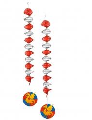 2 Hängedekorationen Ritter 60 cm