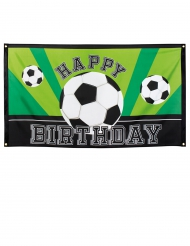 Banner Happy Birthday Fußball-Party 90 x 150 cm