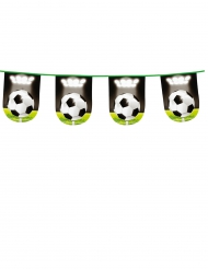 Fussball-Girlande Partydekoration 6m bunt