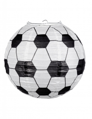 Fussball-Laterne Hängedeko schwarz-weiss 25 cm