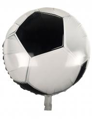 Fussball Aluminiumballon schwarz-weiss 45 cm
