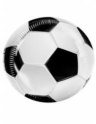 6 Fußball-Teller aus Pappkarton 23cm