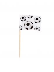 Fussball Fahnen für Finger-Food Fanartikel 24 Stück schwarz-weiss 7cm