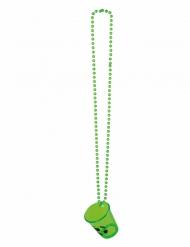 Kette mit Schnapsglas Fußball grün