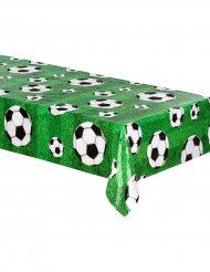Fussball-Tischdecke aus Kunststoff grün-weiss 120 x 180 cm