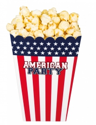 4 Popcorn-Becher Amerika-Party
