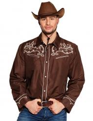 Western-Cowboyhemd für Herren braun