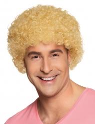 Afro oder Clown Perücke blond für Erwachsene